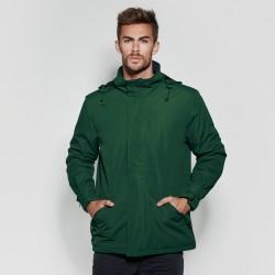 foto de modelo con la parka verde de hombre para personalizar en marcate.net