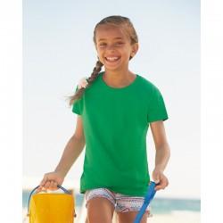 foto niña con camiseta verde para personalizar online en marcate.net