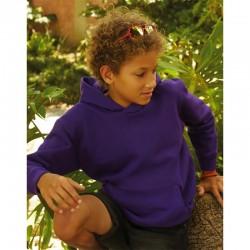 niño con sudadera con capucha morada para personalizar en marcate.net