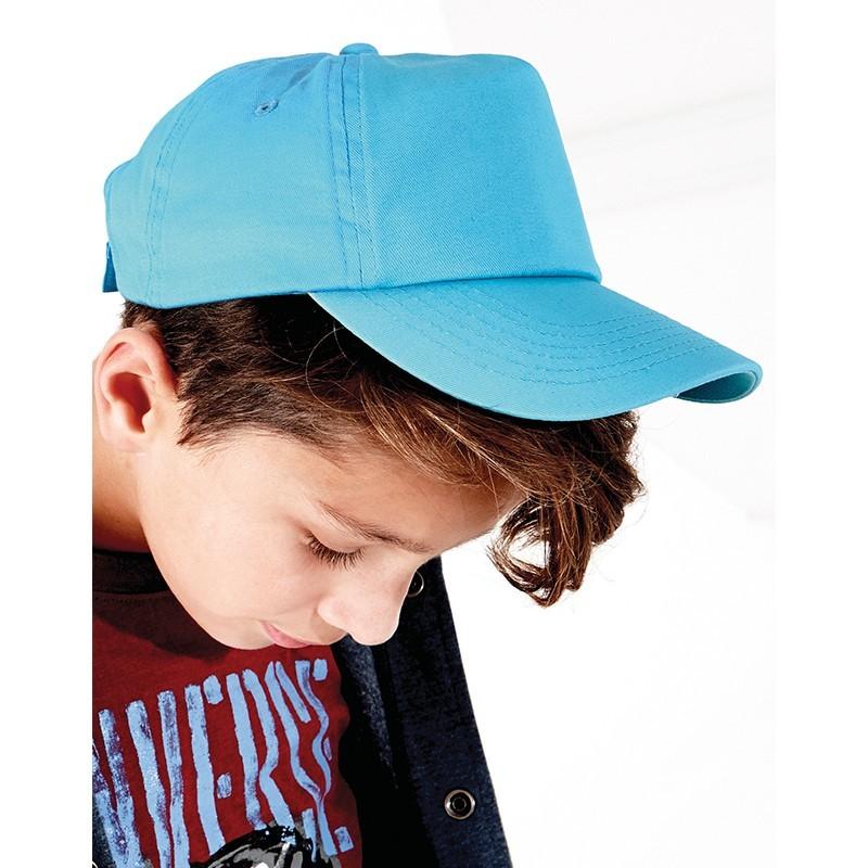 foto de niño con gorra para personalizar de color azul en marcate.net