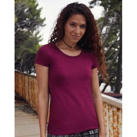 foto de modelo con la camiseta premium de mujer para personalizar en marcate.net