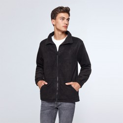 photo of model with unisex polar jacket to personalize online at marcate.net