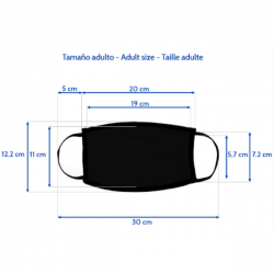 Detailed measurements of the black mask to customize