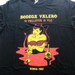 men's soft basic personalized t-shirt printed with two-color screen printing Bodega Valero