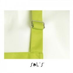 detalle de la anilla metálica ajustable del delantal verde para personalizar en marcate.net