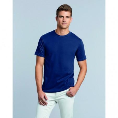 foto de chico con camiseta azul premium de Gildan para personalizar en marcate.net