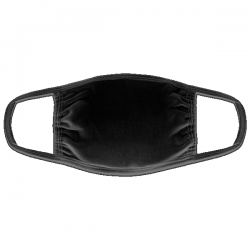 mascarilla de algodón de color negro para personalizar en marcate.net