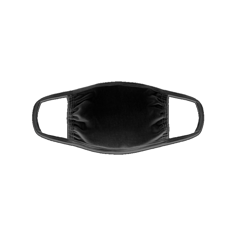 Black cotton mask to customize at marcate.net