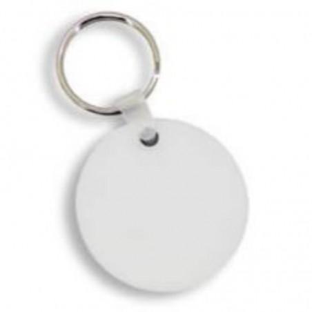 foto de llavero redondo blanco para personalizar por una cara en marcate.net