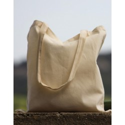 Fabric bag to personalize beige with landscape background at marcate.net