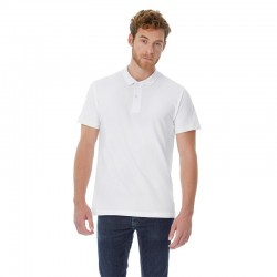 Photo of boy with a white short-sleeved polo shirt to personalize at marcate.net