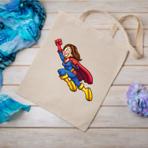 Customized cloth bag photo with super mom