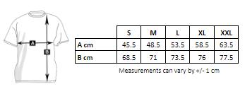 Medidas de la camiseta de baseball de hombre