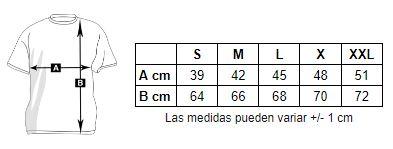Medidas camiseta personalizada manga larga mujer