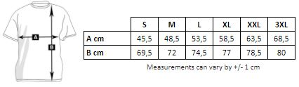 Measurements of the personalized V-neck shirt for men