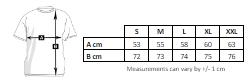 Unisex men's custom softshell jacket size chart at marcate.net